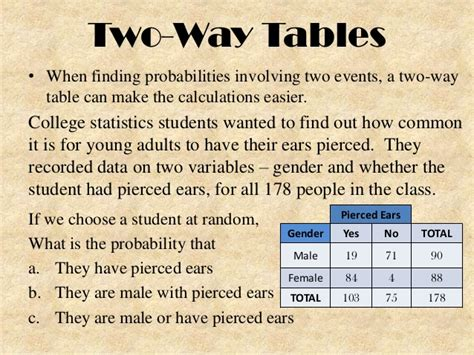 two way table probability worksheet two way tables venn diagrams