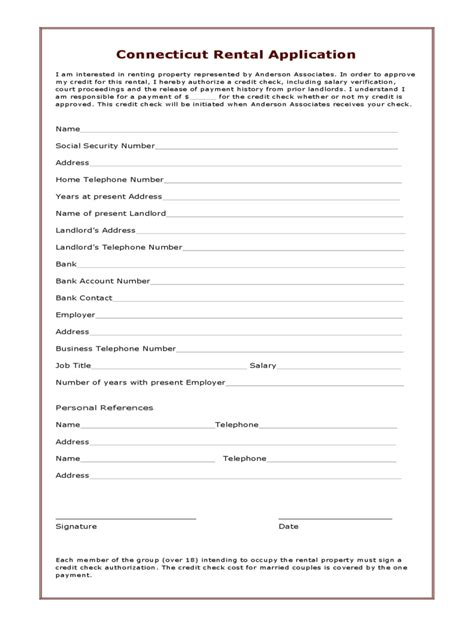 printable lease agreement ct connecticut rent and lease template free templates in