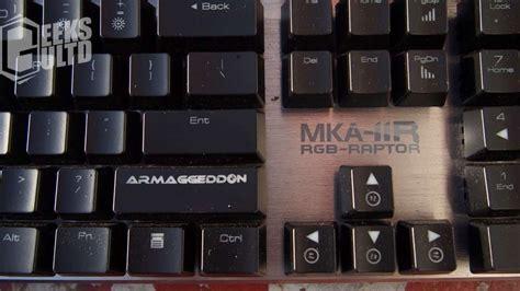 Armageddon Mka 11r Mechanical armaggeddon mka 11r rgb raptor mechanical keyboard review