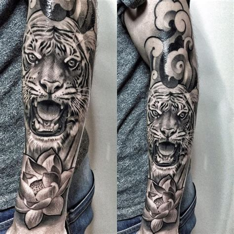 tiger tattoo sleeve 25 amazing sleeve tattoos for tattoozza
