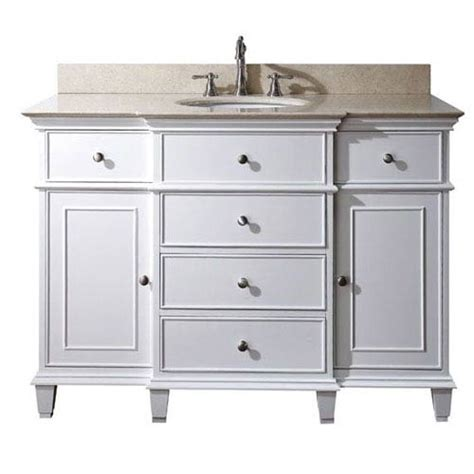 White Bathroom Vanities 48 Inch Vanity Only In White Finish Avanity Vanities Bathroom Vanities