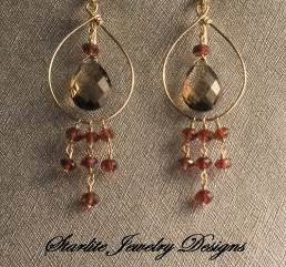 starlite jewelry designs briolette earrings handmade