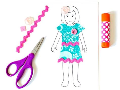 Make Paper Dolls - how to make paper dolls with downloadable patterns how