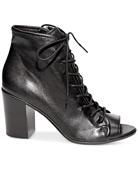 steve madden neela lace up booties in black lyst
