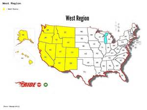 map of the west region of the united states best rides in united states west region