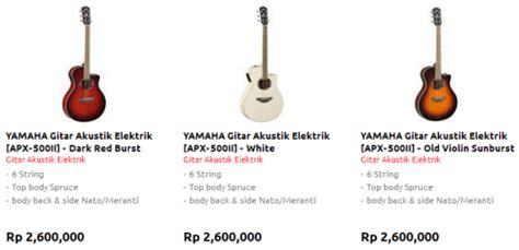 Harga Gitar Yamaha Untuk Pemula harga gitar akustik elektrik yamaha terbaru dan terlaris