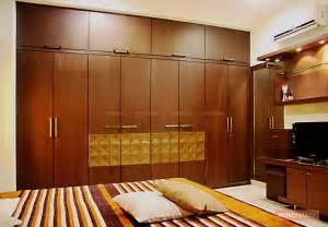 Wooden almirahs in bedroom