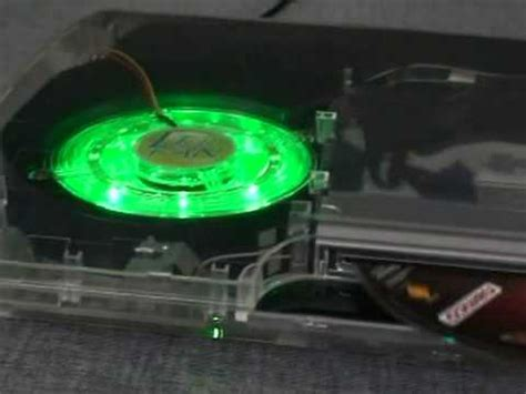 Fan Casing Lu 12x12cm xcm led fan for playstation 3 ps3 slim mod cyberbot