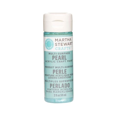 martha stewart crafts 2 oz aquarium multi surface pearl acrylic craft paint 32123 the home depot