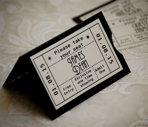 retro ticket place card template vintage ticket wedding place cards vintage twee