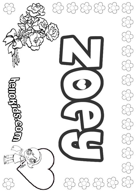 zoey coloring pages hellokids com