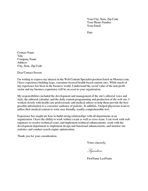 cover letters for a application cover letter application application cover