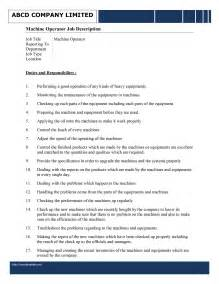 machine operator job description template free microsoft
