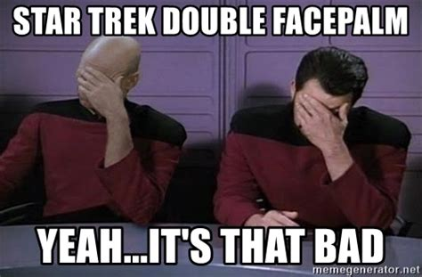 pics for gt star trek meme facepalm