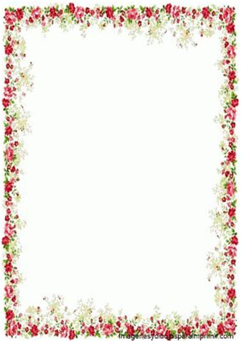 bordes descargables borde con rosas para imprimir bordes para pagina