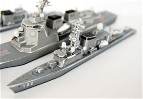 Destroyer Papercraft - hatsuyuki class japanese destroyer papercraft ship
