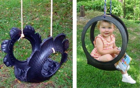 tire swing diy outdoor swing ideas diy