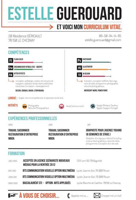 designspiration resume curriculum vitae by estelle guerouard via behance