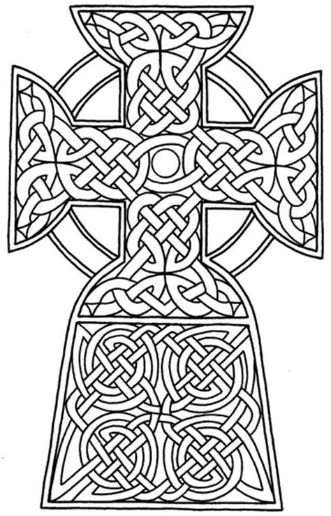 Celtic Cross Coloring Pages Celtic Cross Coloring Pages