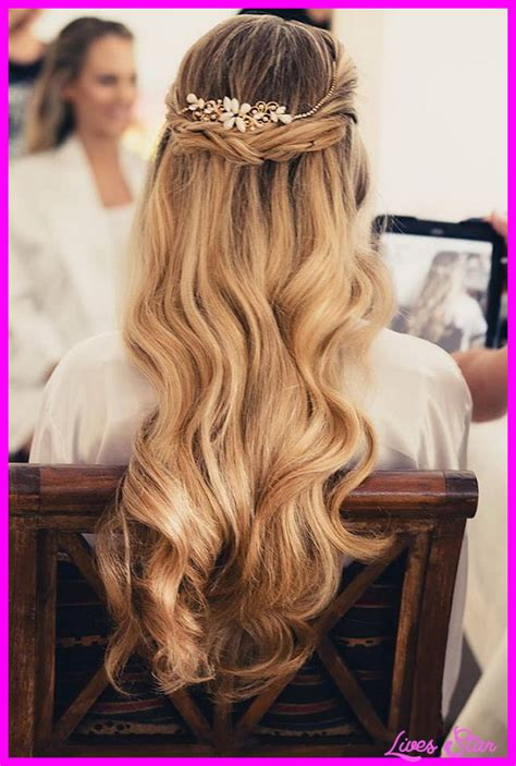 wedding hairstyles half up half down with braid and veil bridal hairstyles half up half down with braids