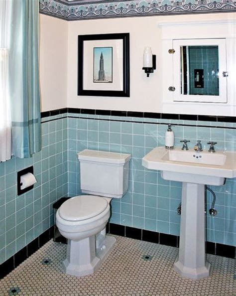 blue tile bathroom 40 retro blue bathroom tile ideas and pictures