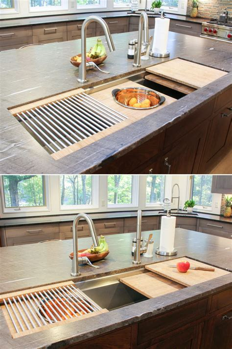 kitchen sink with cutting board and colander kitchen island sink with cutting boards colander and dish