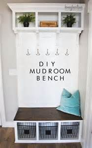 Easy Christmas Crafts - diy mudroom bench part 2 honeybear lane