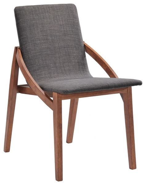 scandi chair modrest jett modern espresso fabric dining chair set of 2