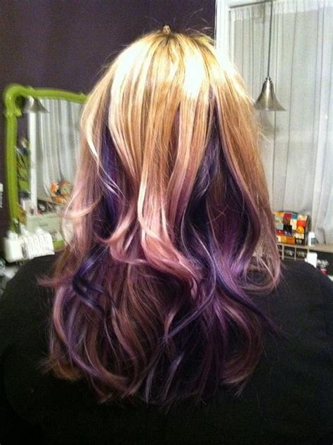 is streaking still popular on hair 17 best images about blonde to purple ombre on pinterest