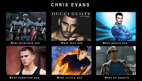 Evan Meme - chris evans what people think i do what i really do