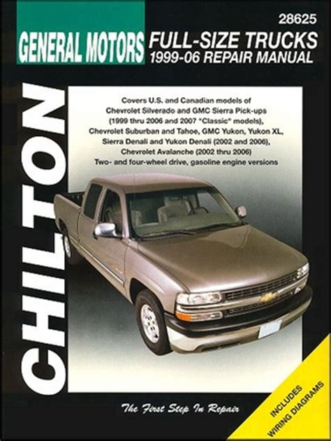 how to download repair manuals 2006 chevrolet avalanche 1500 parking system silverado sierra tahoe suburban yukon repair manual 1999 2006