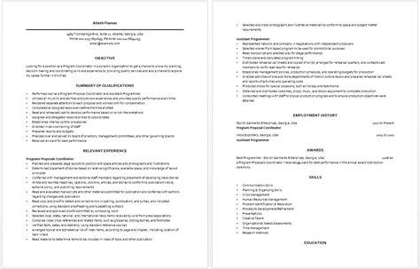 Program Coordinator Resume by Program Coordinator Resume Resume