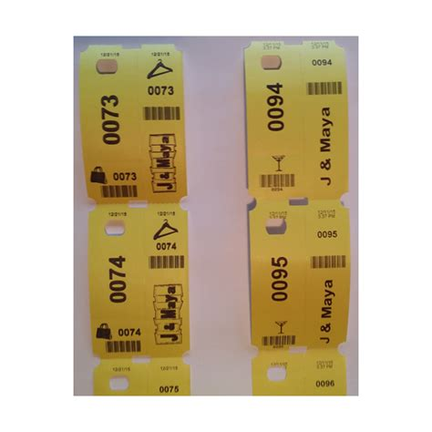 Printable Cloakroom Tickets | thermal cloakroom ticket rolls