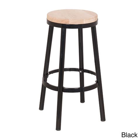 wooden seat bar stools round black leather barstool with brown wooden legs and