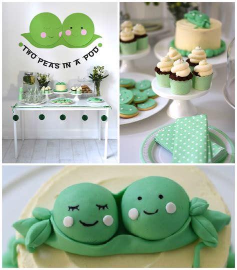 Two Peas In A Pod Baby Shower by Kara S Ideas Two Peas In A Pod Baby Shower