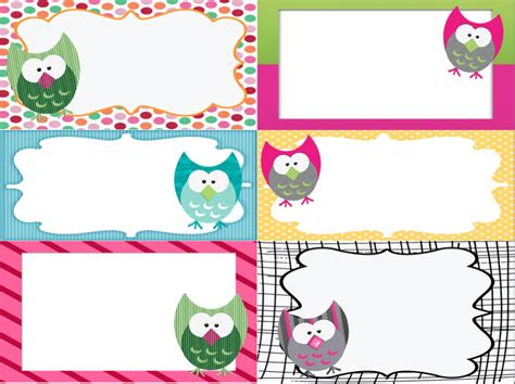 Printable Owl Labels | owl labels printable