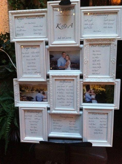 wedding seating plan photo frame 9 best images about sitting chart on canada
