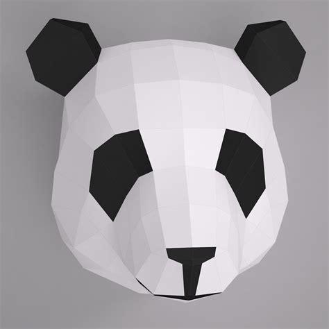 Papercraft 3d Model - 3d model paper panda