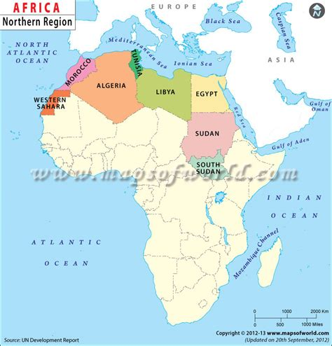 Sections Of Africa by Africa Is A Region Of Africa Separated From The