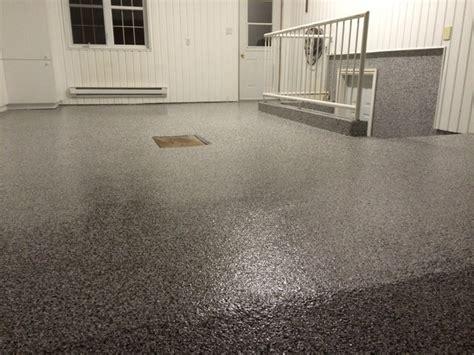 polyurea garage floor coating 100 flakes domino