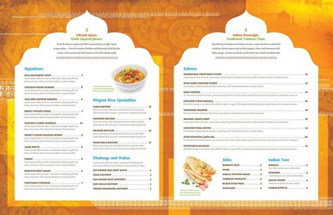 indian restaurant menu design template indian restaurant menu template for free page 2