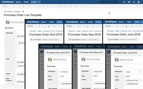 confluence template scaffolding forms templates atlassian marketplace