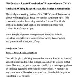 Guide To Writing An Analytical Essay by Argument Essay Gre Guide