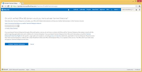 How To Activate Office 365 Portal Yammer And Office 365 Enterprise Stromberg