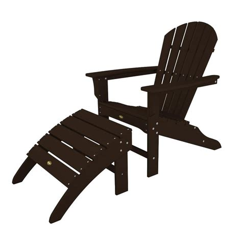 black adirondack chairs home depot trex outdoor furniture cape cod charcoal black patio