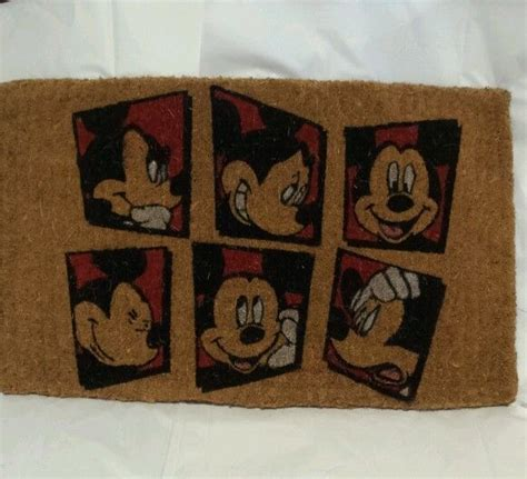 Mickey Mouse Kitchen Rug New Mickey Mouse Disney Six Square Pattern Coir Rug Doormat 16 X 27 Quot Door Mat Disney Mice