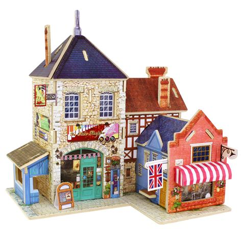 3d Wood Puzzle Store House Puzzle Kayu buy wholesale 3d castle puzzle from china 3d castle