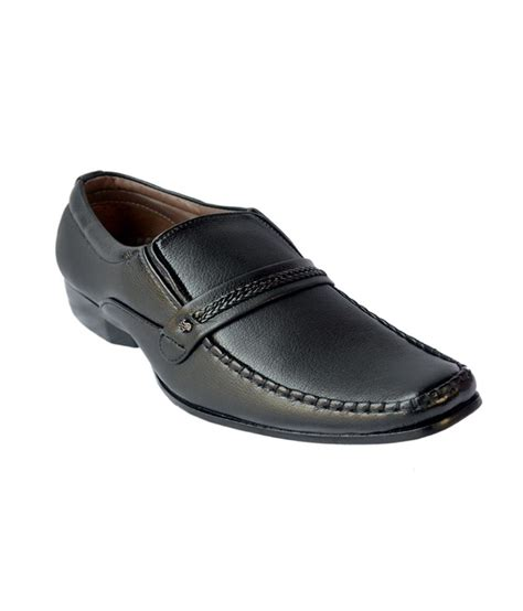 essence black leather designer formal shoes price in india