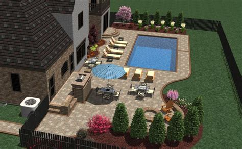 Patio Furniture Layout | 3d pool patio and furniture layout landscape designs