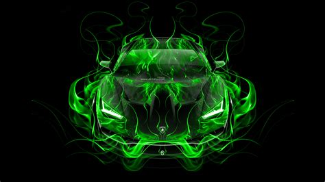 green wallpaper in 4k lamborghini centenario frontup super fire abstract car